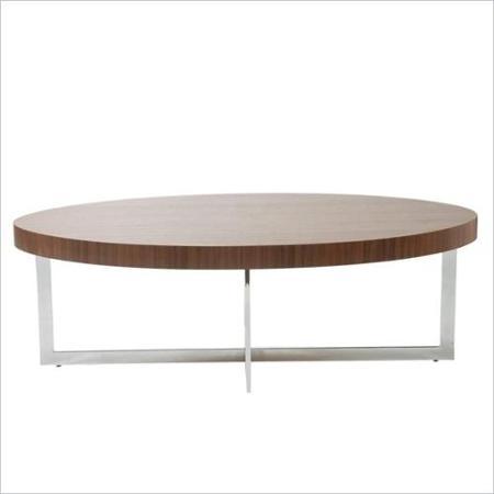 Oval Walnut Coffee Table Idi Design well intended for Oval Walnut Coffee Tables (Image 17 of 20)