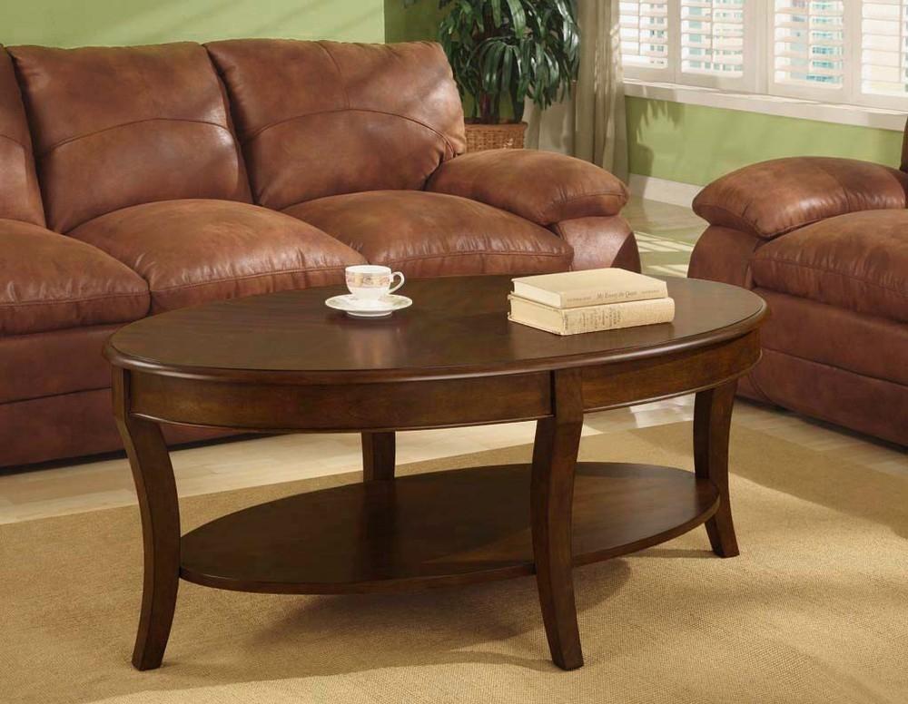 Oval Walnut Coffee Table Via Overstock certainly pertaining to Oval Walnut Coffee Tables (Image 18 of 20)