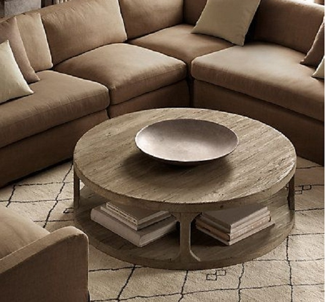 Oversized Round Coffee Table Starrkingschool good pertaining to Oversized Round Coffee Tables (Image 15 of 20)