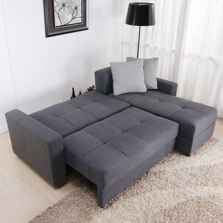Overview The Versatile Modern Sutton Convertible Sectional Chaise Clearly Regarding Sofa Convertibles (View 13 of 20)