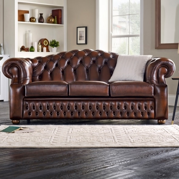 Oxford 3 Seater Sofa From Sofas Saxon Uk Most Certainly Inside Three Seater Sofas (View 8 of 20)