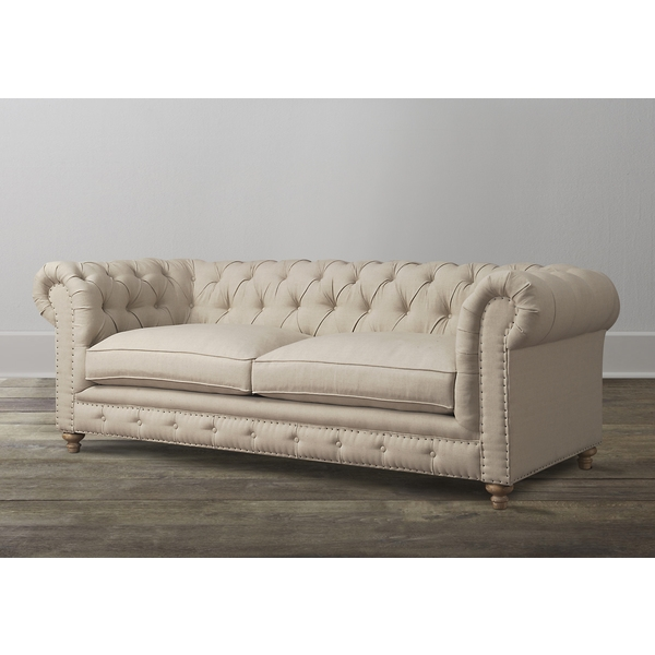 Oxford Beige Linen Sofa Loveseats Linens And Couch Ottoman properly with regard to Oxford Sofas (Image 9 of 20)