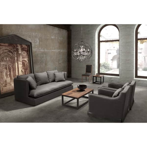 Pacific Heights Charcoal Grey Sofa Free Shipping Today effectively pertaining to Charcoal Grey Sofas (Image 14 of 20)