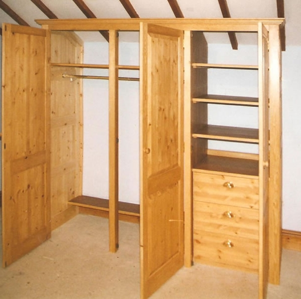 Painted Doors Spot On Joinery Com very well for Pine Wardrobe With Drawers and Shelves (Image 5 of 30)