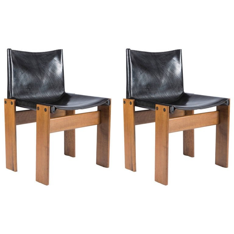 Pair Of Monk Chairs Afra And Tobia Scarpa For Molteni For most certainly pertaining to Monk Chairs (Image 14 of 20)