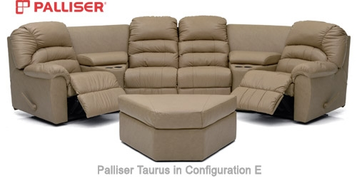 Palliser Taurus Sectional Sofa Seating properly intended for 45 Degree Sectional Sofa (Image 13 of 20)