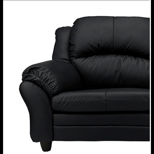 Paloma 3 Seater Sofa Free 2 Seater Sofa Black Furnico Village very well in Black 2 Seater Sofas (Image 18 of 20)