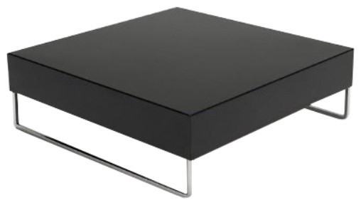 Park Square Coffee Table Modern Coffee Tables Modern certainly pertaining to Square Black Coffee Tables (Image 19 of 20)