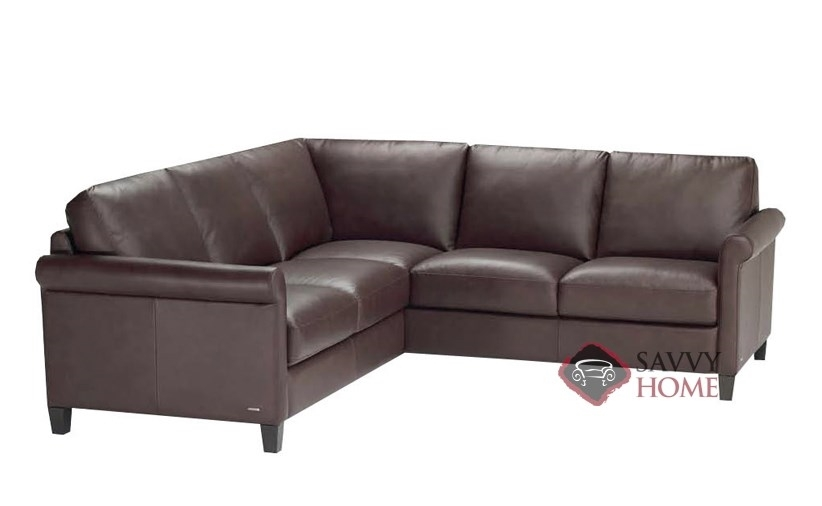 Parma B580 Leather True Sectional Natuzzi Is Fully good inside Compact Sectional Sofas (Image 9 of 20)