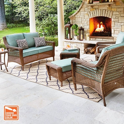 Patio Furniture For Your Outdoor Space The Home Depot effectively regarding Outdoor Sofa Chairs (Image 15 of 20)