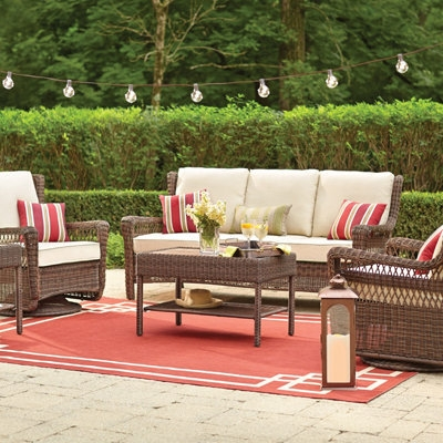 Patio Furniture For Your Outdoor Space The Home Depot perfectly regarding Outdoor Sofa Chairs (Image 16 of 20)
