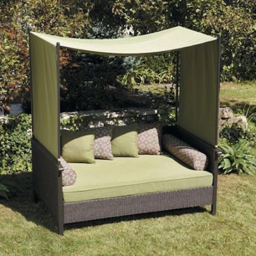 Patio Sofa Bed Wicker Canopy Gazebo Cover Couch Pool Side very well inside Outdoor Sofas With Canopy (Image 19 of 20)