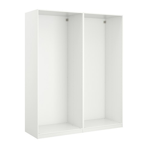 Pax 2 Wardrobe Frames White Wardrobes Ikea And Frames effectively in Double Rail Wardrobes Ikea (Image 23 of 30)