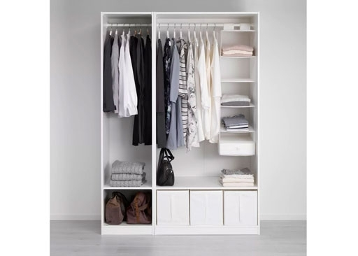 Pax Wardrobes Built In Wardrobes Ikea properly pertaining to Double Wardrobe With Drawers And Shelves (Image 27 of 30)