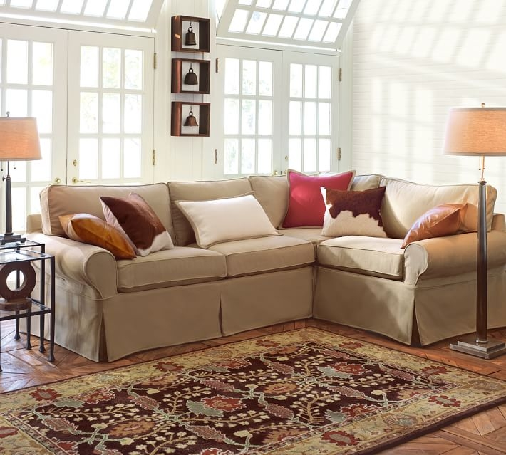 Pb Basic Slipcovered 3 Piece Sectional Pottery Barn effectively intended for American Made Sectional Sofas (Image 10 of 20)