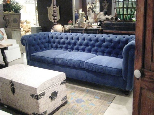 Peacock Blue Velvet Tufted Sofa Recent Photos The Commons Getty certainly throughout Blue Tufted Sofas (Image 17 of 20)