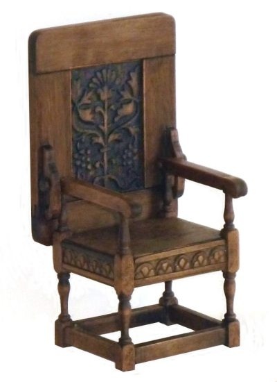 Pear Tree Miniatures Chairs properly with regard to Monk Chairs (Image 15 of 20)