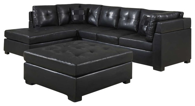 Perfect Leather Sectional Sofa With Chaise Sofas To Decor properly in Contemporary Black Leather Sectional Sofa Left Side Chaise (Image 18 of 20)