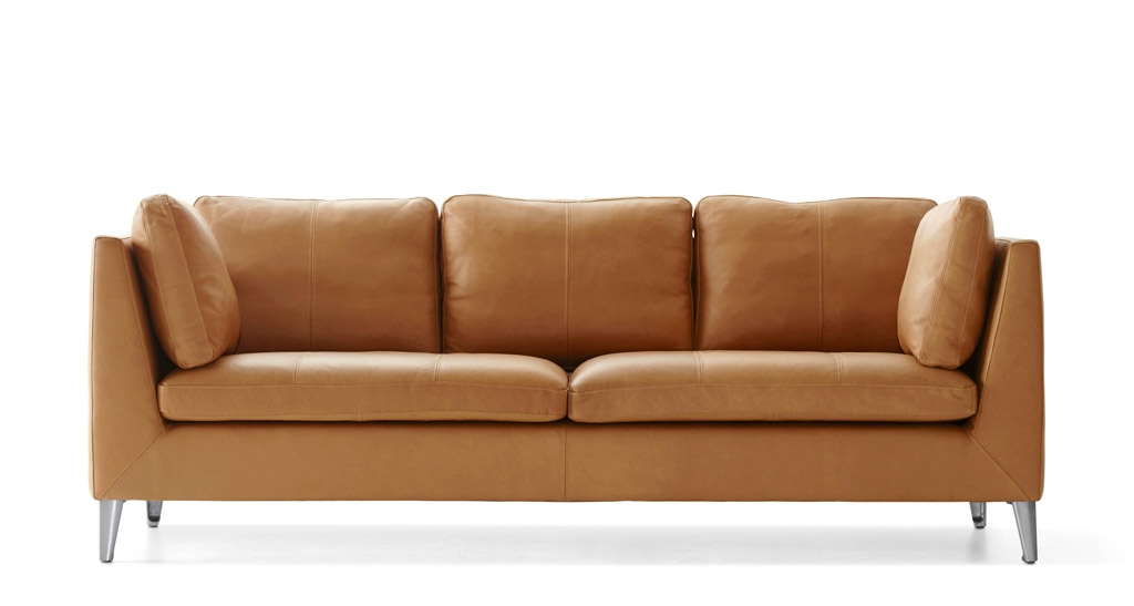 Perfect Light Tan Leather Sofa Tan Sofas Interiorvues properly throughout Light Tan Leather Sofas (Image 13 of 20)