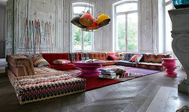 Perk Up The Living Room With 15 Colorful Sofa Ideas Rilane very well in Colorful Sectional Sofas (Image 12 of 20)