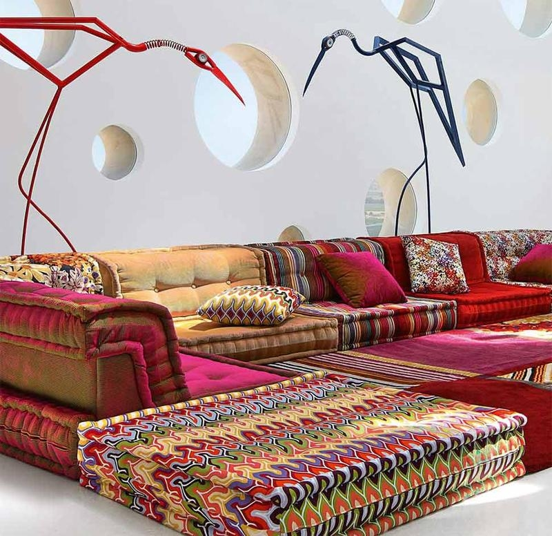 Perk Up The Living Room With 15 Colorful Sofa Ideas Rilane well regarding Colorful Sectional Sofas (Image 13 of 20)