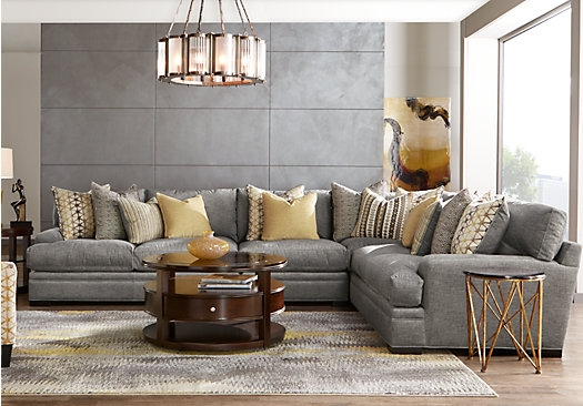 Picture Of Cindy Crawford Home Palm Springs Gray 4 Pc Sectional very well in Cindy Crawford Home Sectional Sofa (Image 13 of 20)