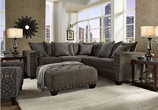 Picture Of Cindy Crawford Home Sidney Road Gray 2 Pc Sectional effectively intended for Cindy Crawford Home Sectional Sofa (Image 14 of 20)