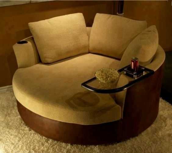 Picturesque Design Ideas Round Sofa Chair Delta Circle Sofa properly regarding Round Sofa Chairs (Image 9 of 20)