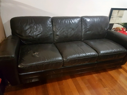 Plush Leather Sofa Sofas Gumtree Australia Boroondara Area perfectly inside Canterbury Leather Sofas (Image 15 of 20)