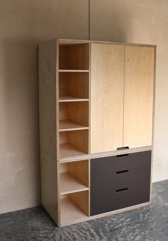 Plywood Wardrobe With Lino Drawer Fronts Bedrooms Make effectively within Wardrobe With Shelves and Drawers (Image 24 of 30)