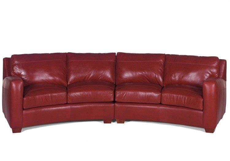 Popular Curved Leather Sectional Sofa And American Made Leather nicely regarding American Made Sectional Sofas (Image 11 of 20)