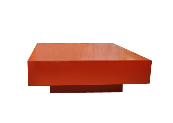 Post Modern Home Red Lacquer Coffee Table well with regard to Lacquer Coffee Tables (Image 15 of 20)