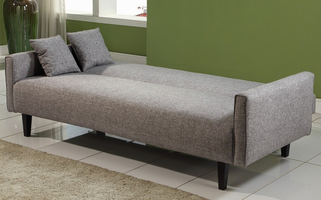 Powerful Grey Fabric Cheap Sofa Beds Design Completed With Small Most Certainly Intended For Cushion Sofa Beds (View 15 of 20)