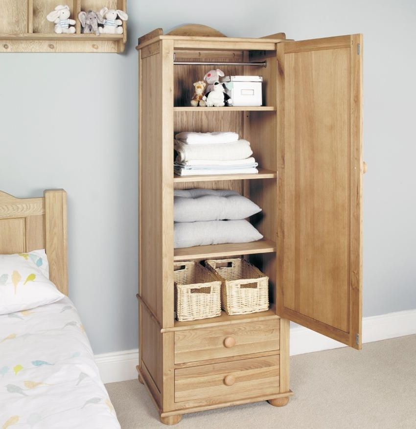 Popular Photo of Oak Wardrobe With Drawers And Shelves
