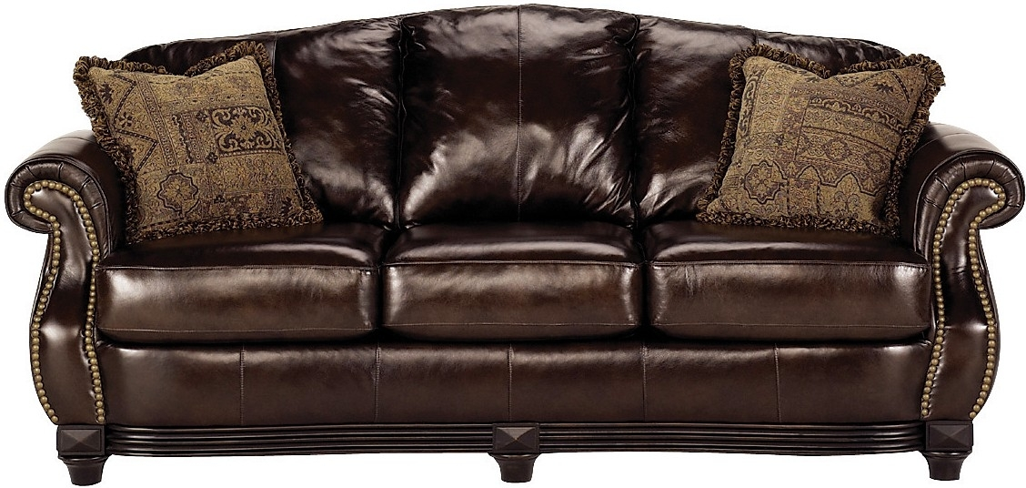 Prestige 100 Genuine Leather Sofa Brown The Brick clearly intended for Brick Sofas (Image 15 of 20)