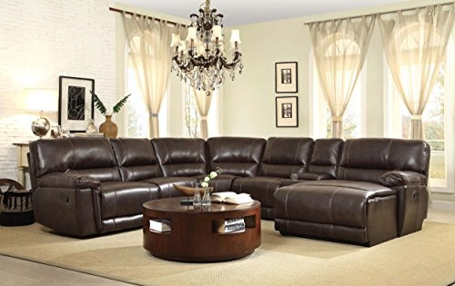 Product Reviews Buy Homelegance 6 Piece Faux Pu Leather clearly throughout 6 Piece Leather Sectional Sofa (Image 8 of 20)