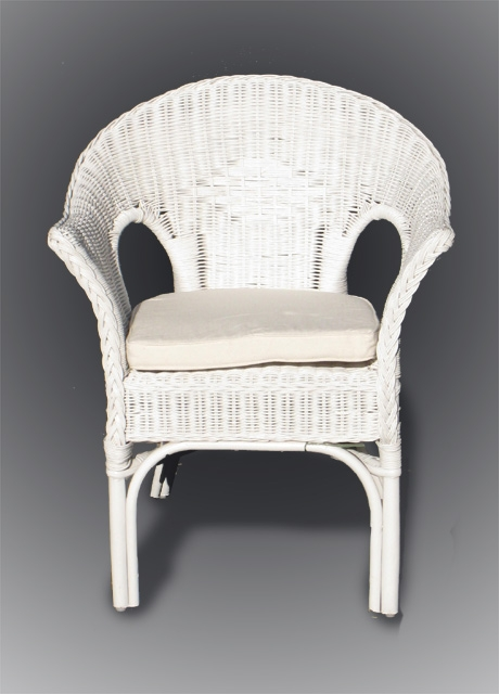 Propscategoriesfurniturewhite Cane Chair With Padding X2 nicely pertaining to White Cane Sofas (Image 15 of 20)