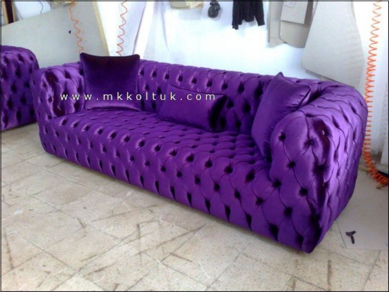 Purple Chesterfield Sofa New Style Exclusive Design Ideas definitely for Velvet Purple Sofas (Image 10 of 20)