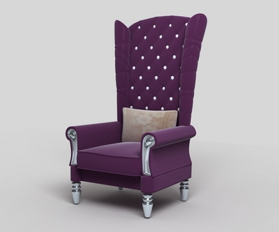 Purple High Back Sofa 3d Model 3d Model Downloadfree 3d Models properly within High Back Sofas and Chairs (Image 18 of 20)