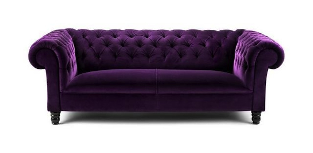 Purple Sofa For A Bright And Lively Living Room Goodworksfurniture definitely pertaining to Velvet Purple Sofas (Image 11 of 20)