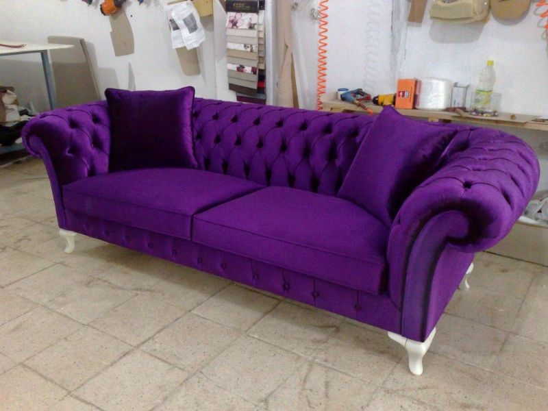 Purple Sofas On Sale Sofa Pinterest Velvet Chesterfield Sofa certainly for Velvet Purple Sofas (Image 12 of 20)