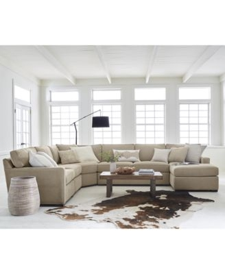 Radley 4 Piece Fabric Chaise Sectional Sofa Created For Macys perfectly for Cloth Sectional Sofas (Image 13 of 20)