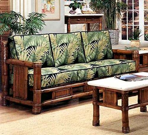 Rattan And Wicker Sofas And Sleeper Sofas Island And Florida well with regard to Bambo Sofas (Image 19 of 20)