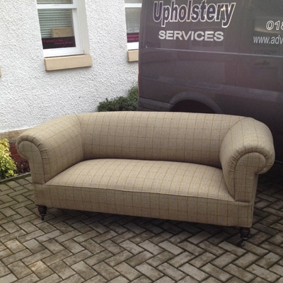 Re Upholstery Chesterfield Sofa West Fenton Advanced Upholstery nicely with regard to Tweed Fabric Sofas (Image 17 of 20)