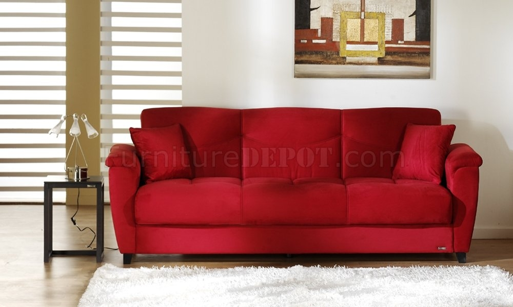 Red Sleeper Sofas Tourdecarroll most certainly with regard to Red Sectional Sleeper Sofas (Image 13 of 20)