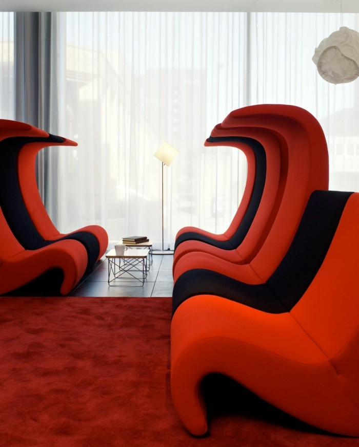 Red Sofa Red Sofas In The Interior Design Inspiring Include perfectly within Red Sofas and Chairs (Image 15 of 20)