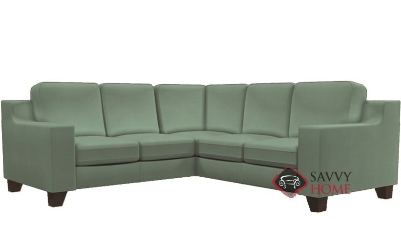 Reed Fabric True Sectional Palliser Is Fully Customizable good pertaining to Compact Sectional Sofas (Image 10 of 20)