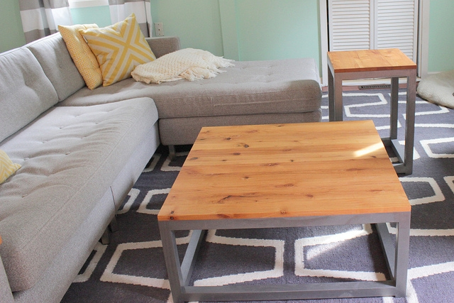 Remodelaholic Build A Modern Coffee Table And Matching End Tables well pertaining to Coffee Table With Matching End Tables (Image 19 of 20)