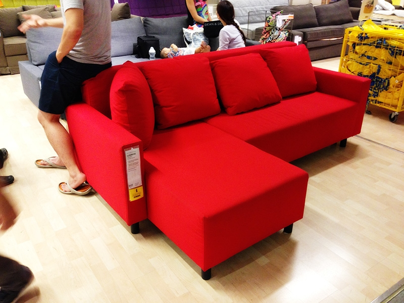 Rise Of The Manstad Clones Friheten Moheda Lugnvik perfectly in Red Sofa Beds IKEA (Image 19 of 20)