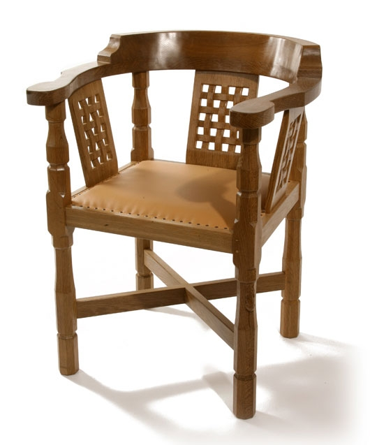Robert Thompson Solid Oak Monks Chair Curved Back Shop most certainly within Monk Chairs (Image 16 of 20)